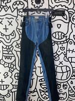 """Christian Lauren Leather Chap Jeans 24"""""""