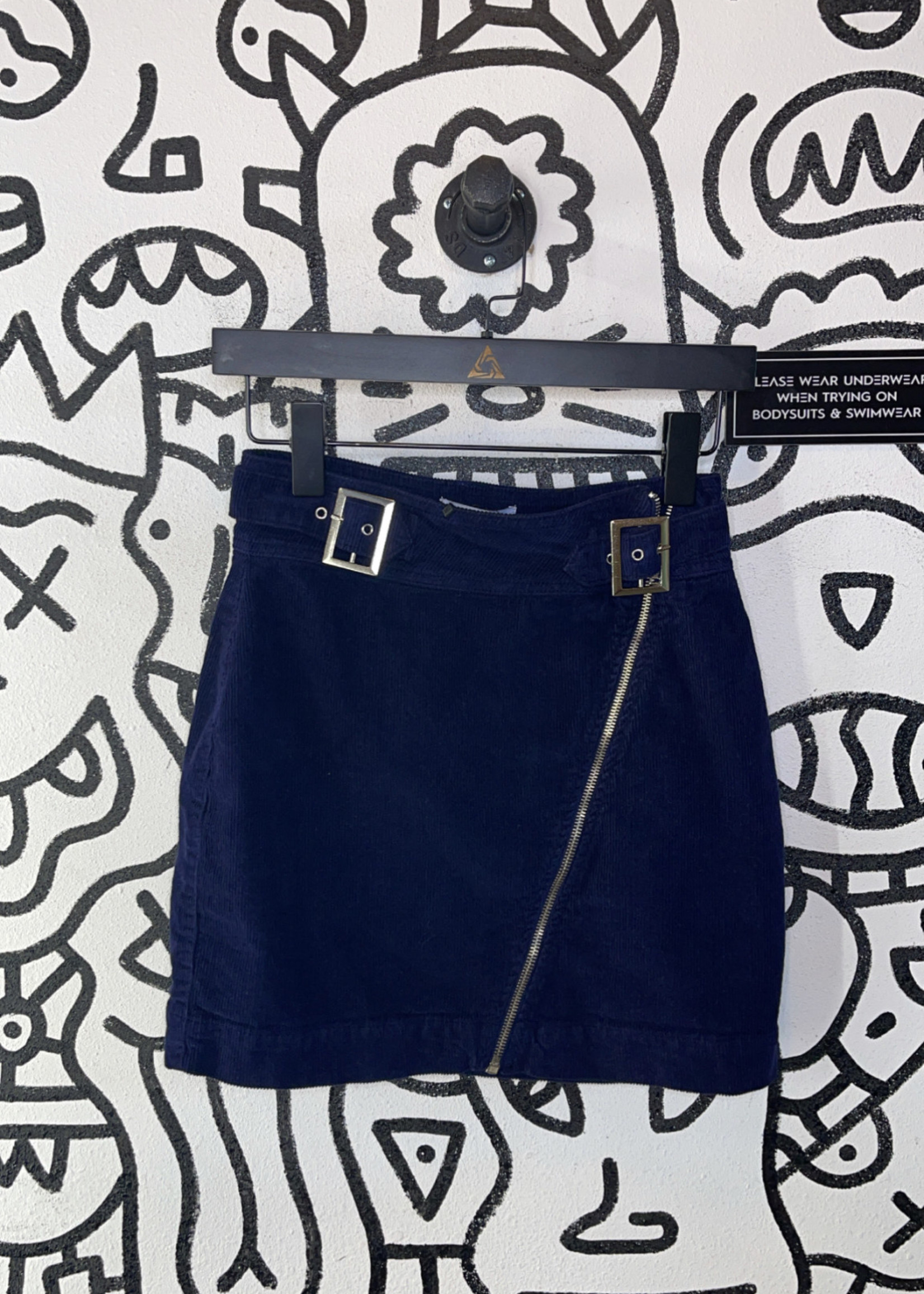 Urban Outfitters Navy Corduroy Skirt S