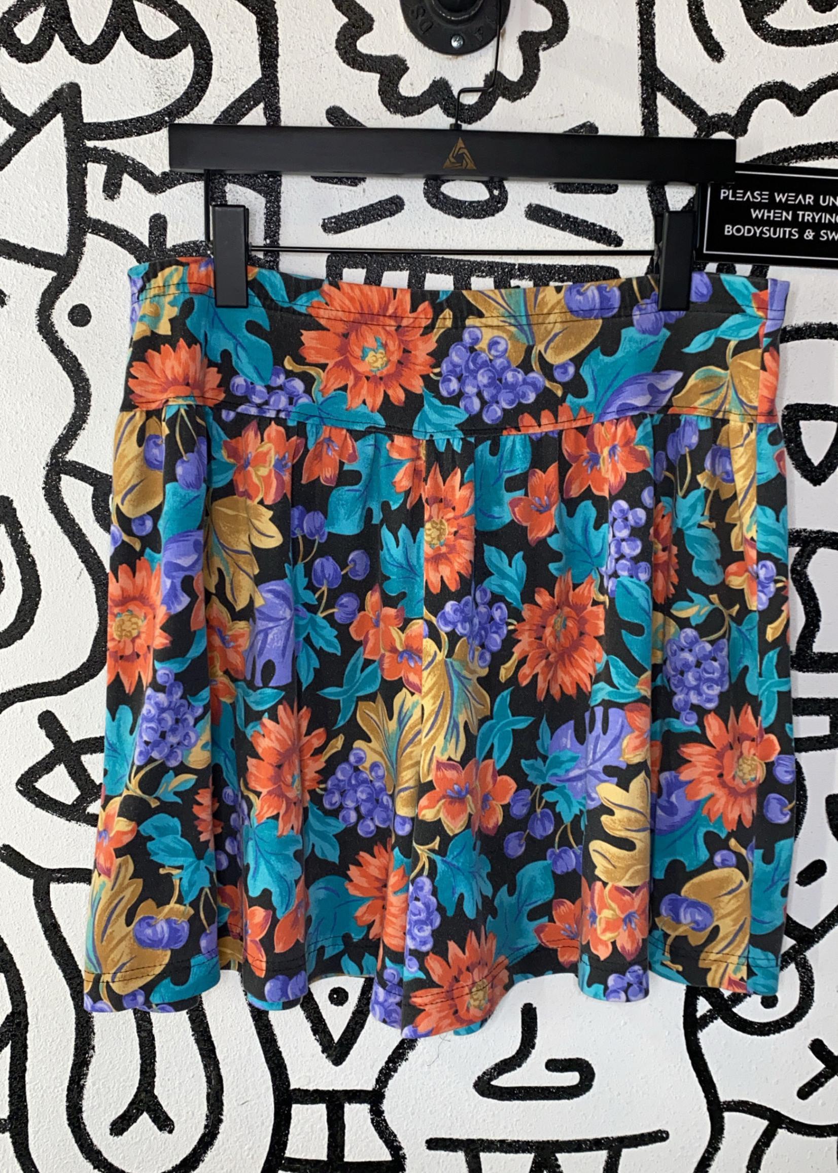 Vintage Jaclyn sport floral mini skirt XXL