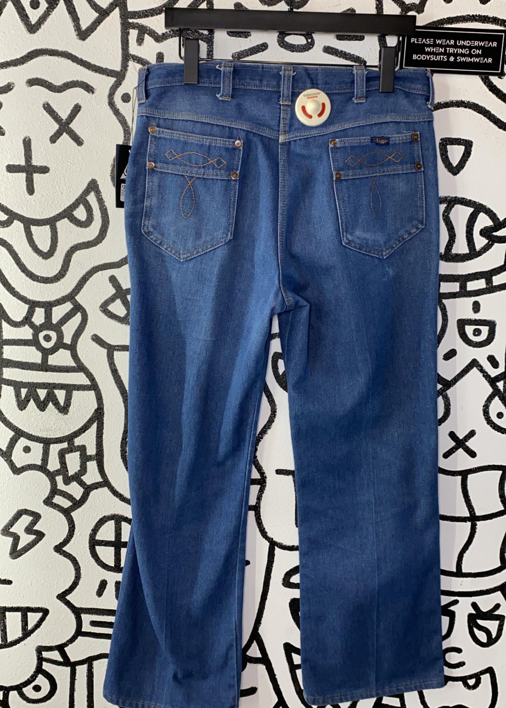Vintage Leggs blue jeans wide leg 32