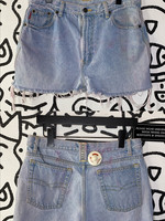 Vintage Bugle boy light washed cut off shorts AS IS 32