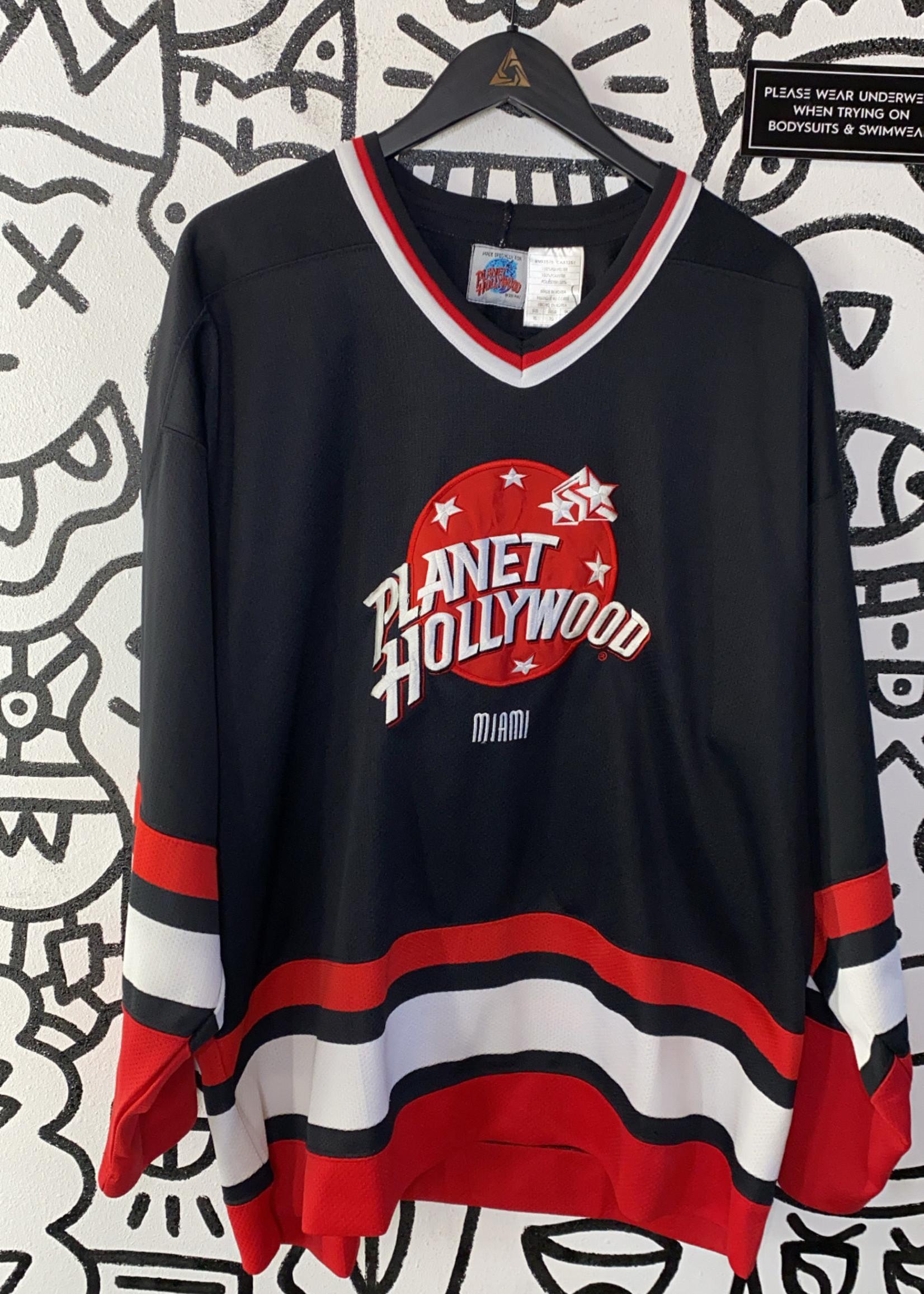 NWT Planet Hollywood california silver hockey jersey XL
