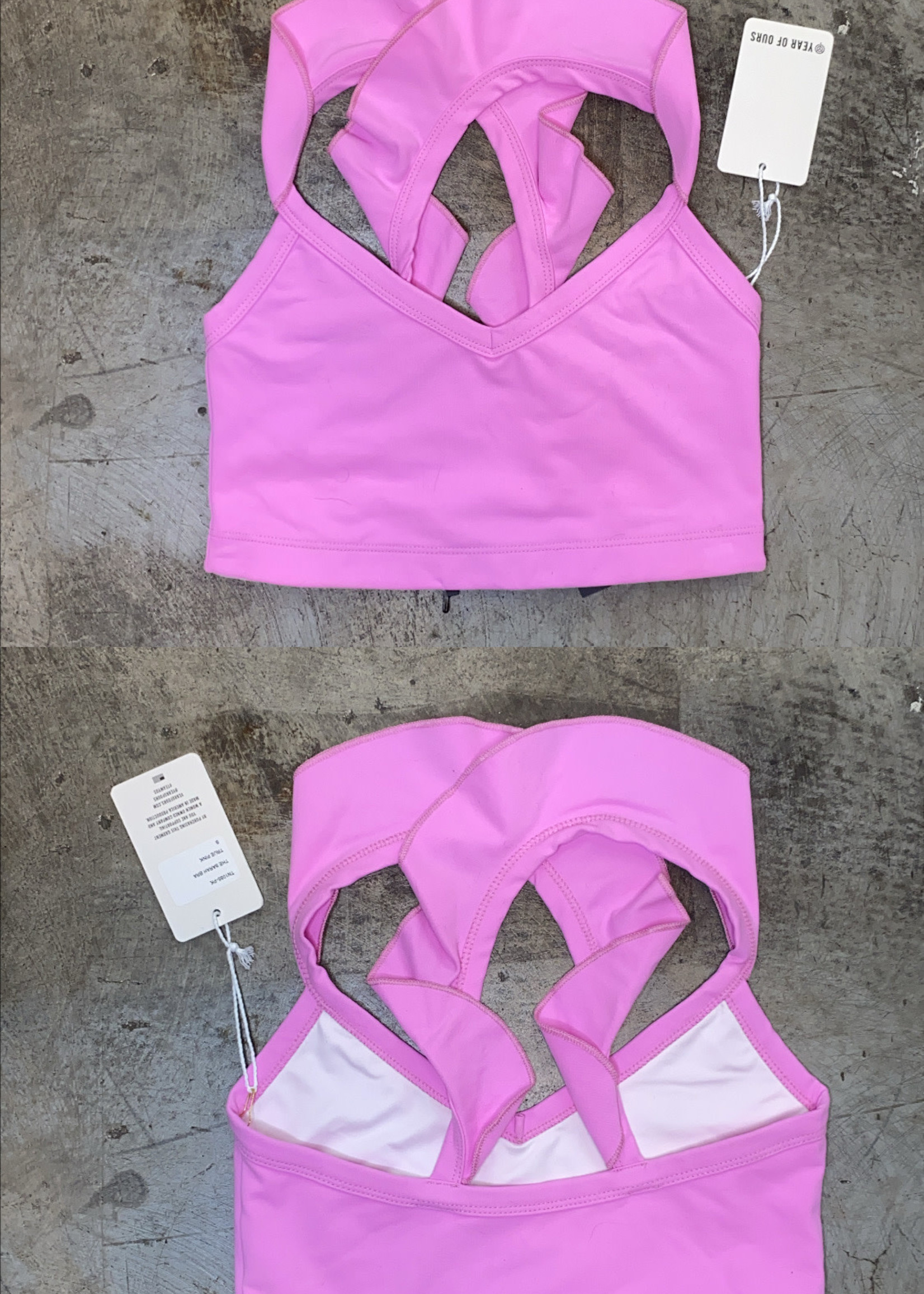 NWT Year of Ours Pink Sports Bra S (Retail: $72)