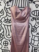 Twenty Cluny Pink Sequin Strapless Dress 4/S