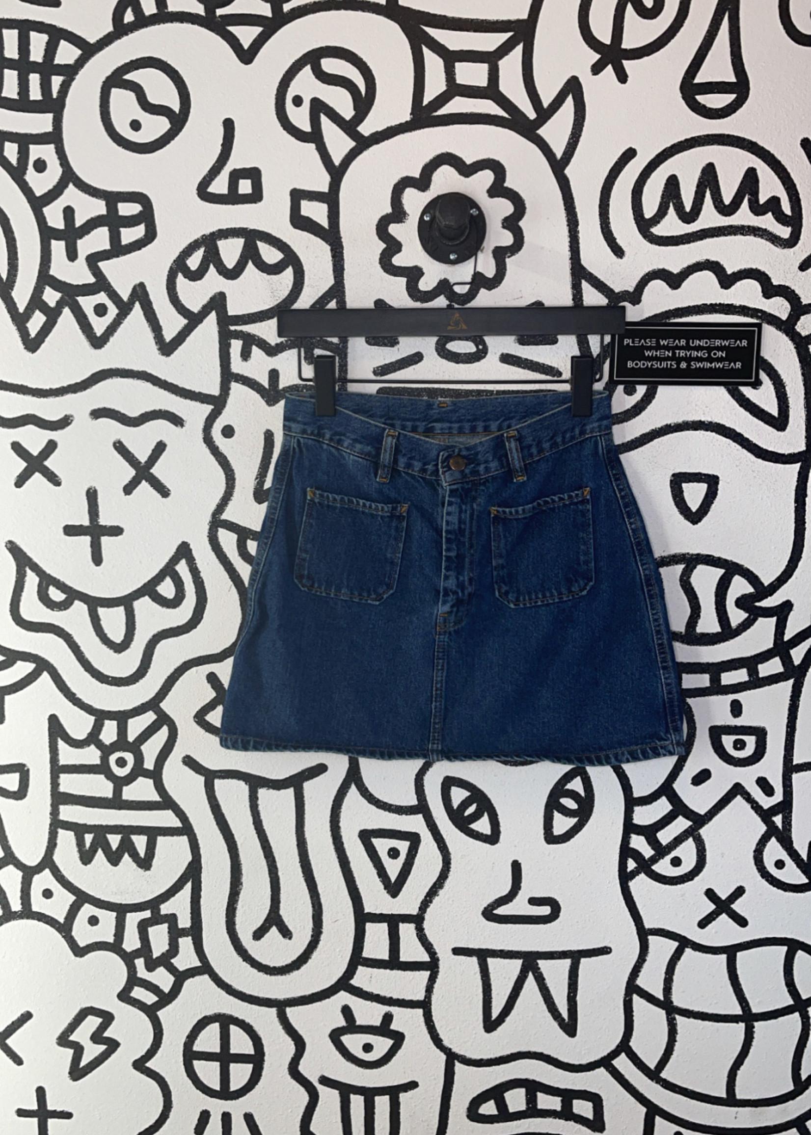 """Y2K Diesel Pocket Denim Skirt 27"""" S"""