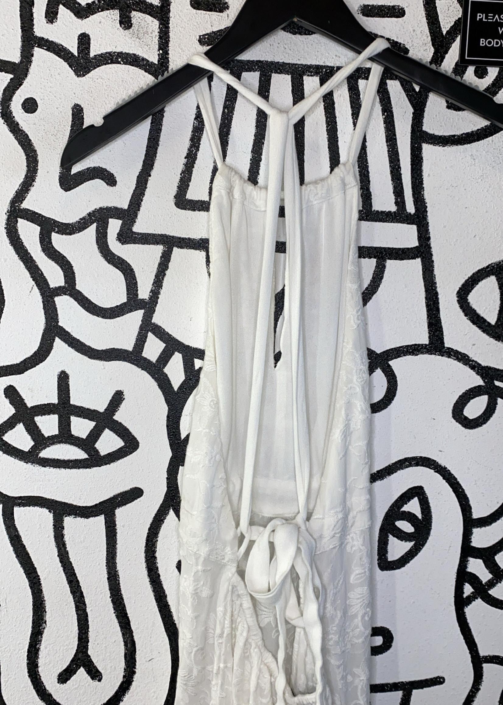 Gypsy 05 Sand white boho long dress S