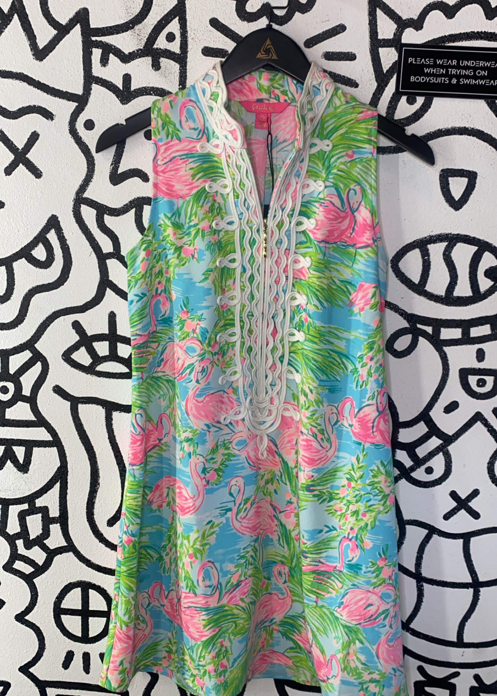 Lilly Pulitzer Tropical Print Dress 00/XS (Retail: $188)