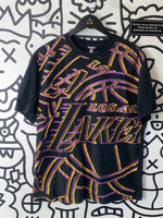 Lakers All Over Print Black 2000's Tee M