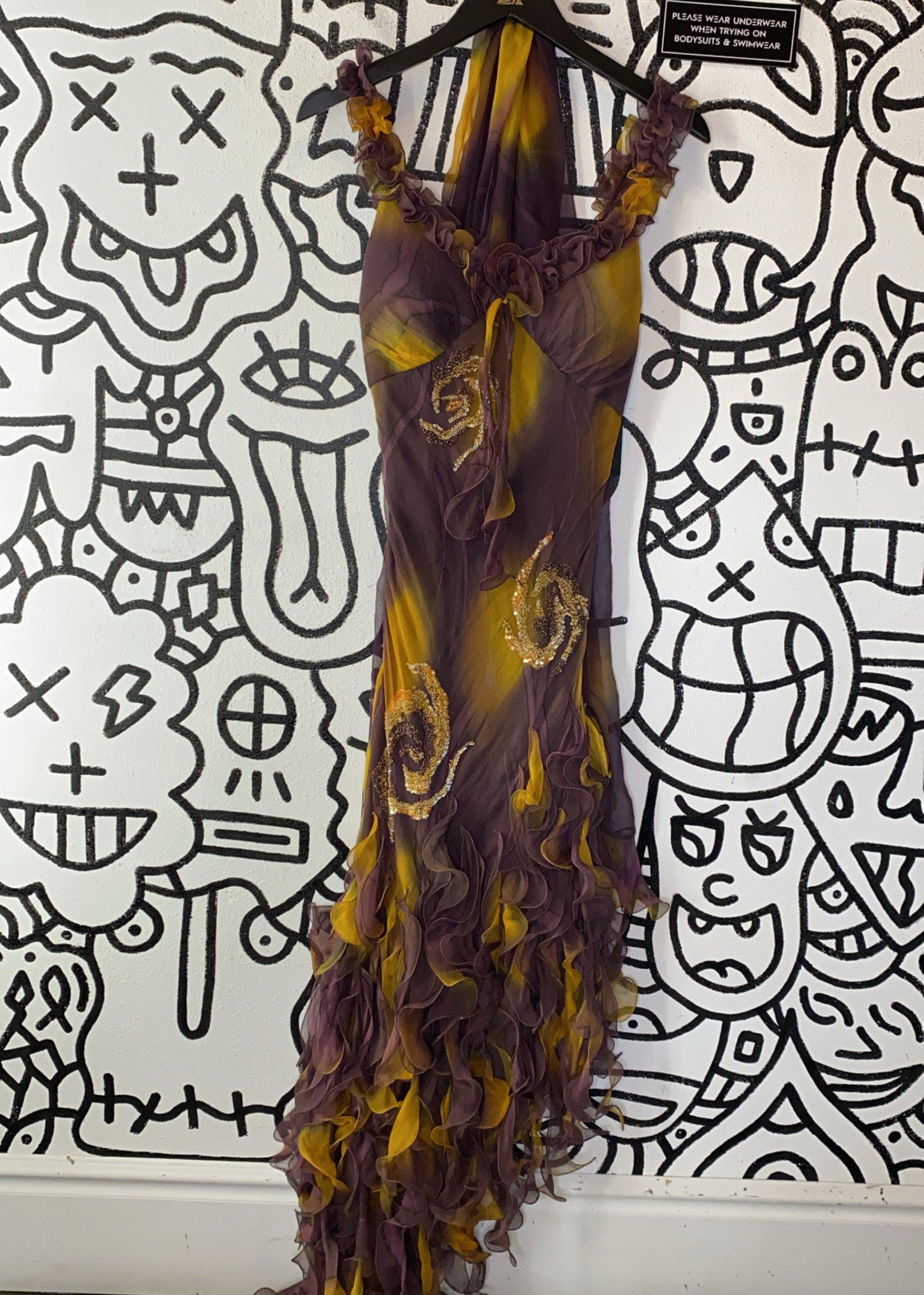 Vintage cassandra stone dress with scarf 6