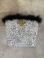Omighty Cheetah Print Fuzzy Tube Top M