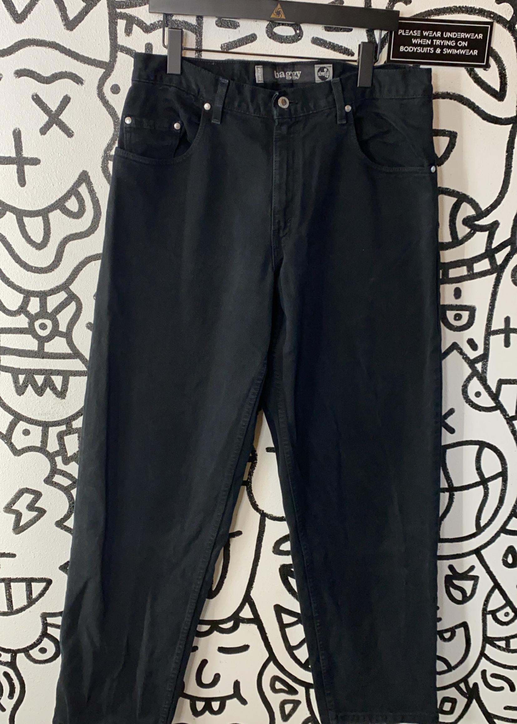 Vintage Levi's 2000 Baggy Black Silvertab Jeans 34x34
