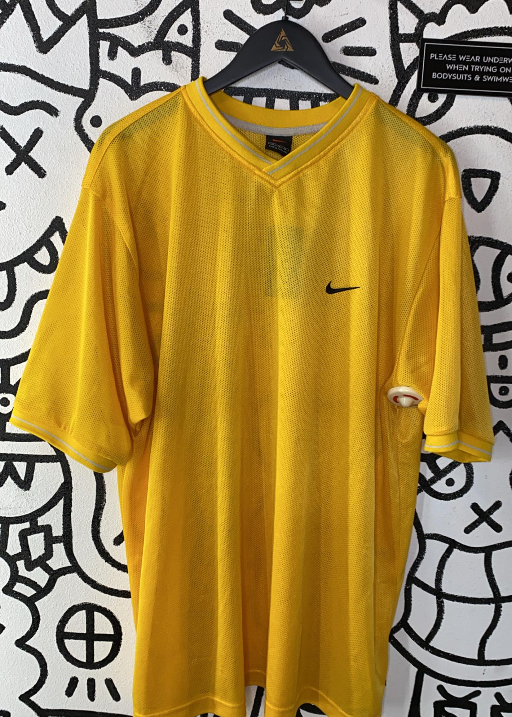 Vintage Nike Yellow Mesh Shirt XXL