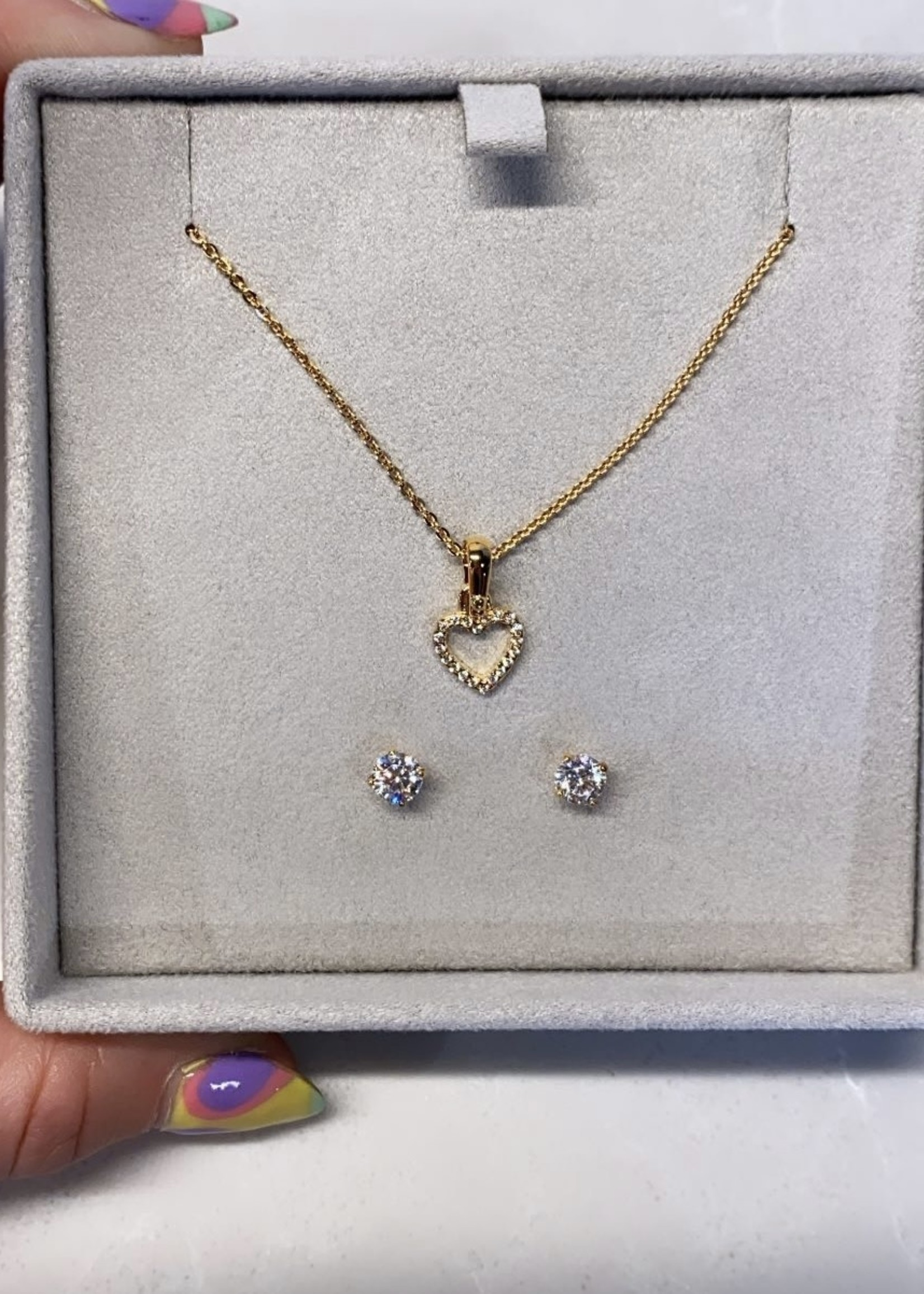 Michael Kors Gold Tone Sterling Silver Jewelry Set (Retail: $175)