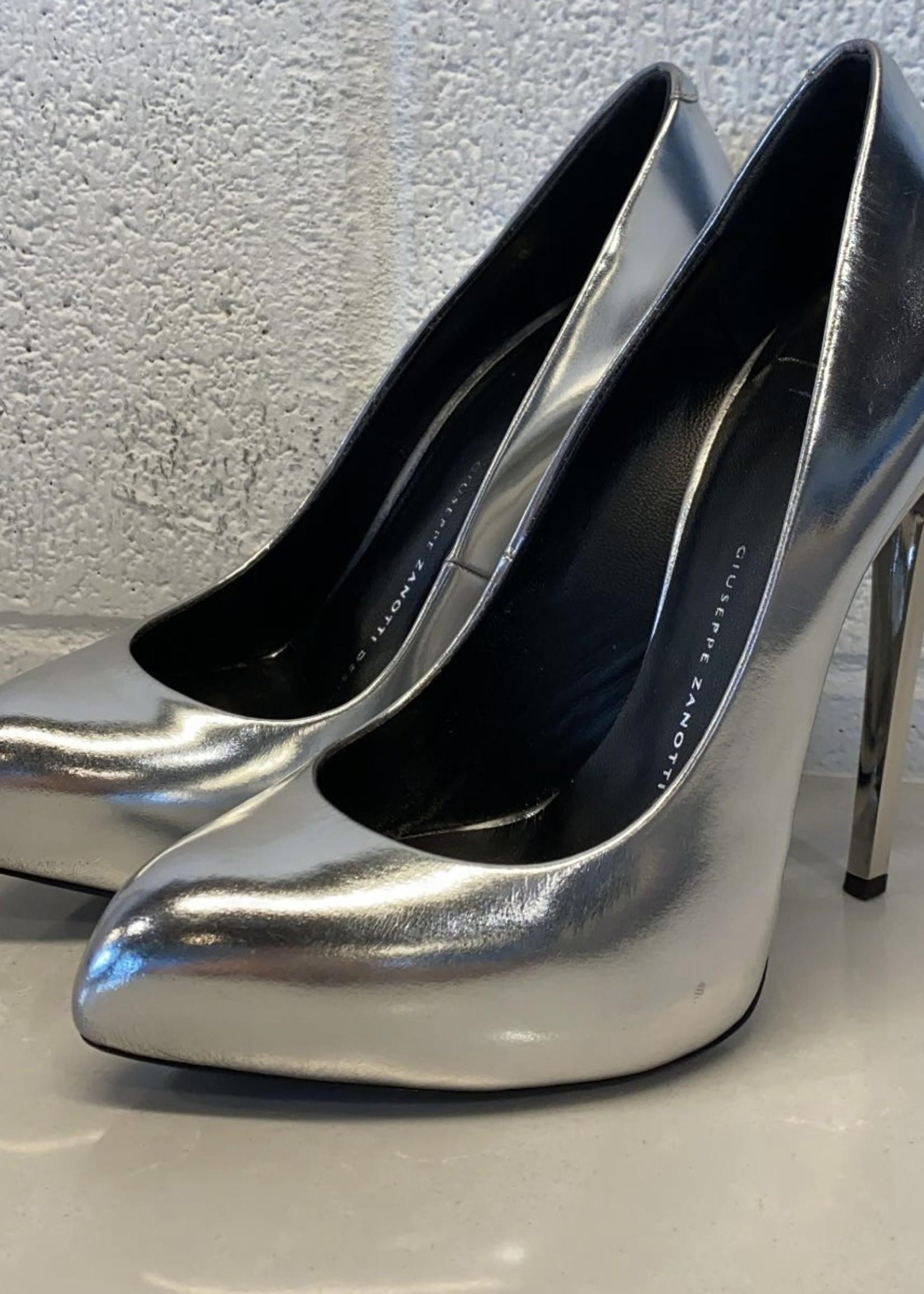 Giuseppe Zanotti Silver Stilettos 6