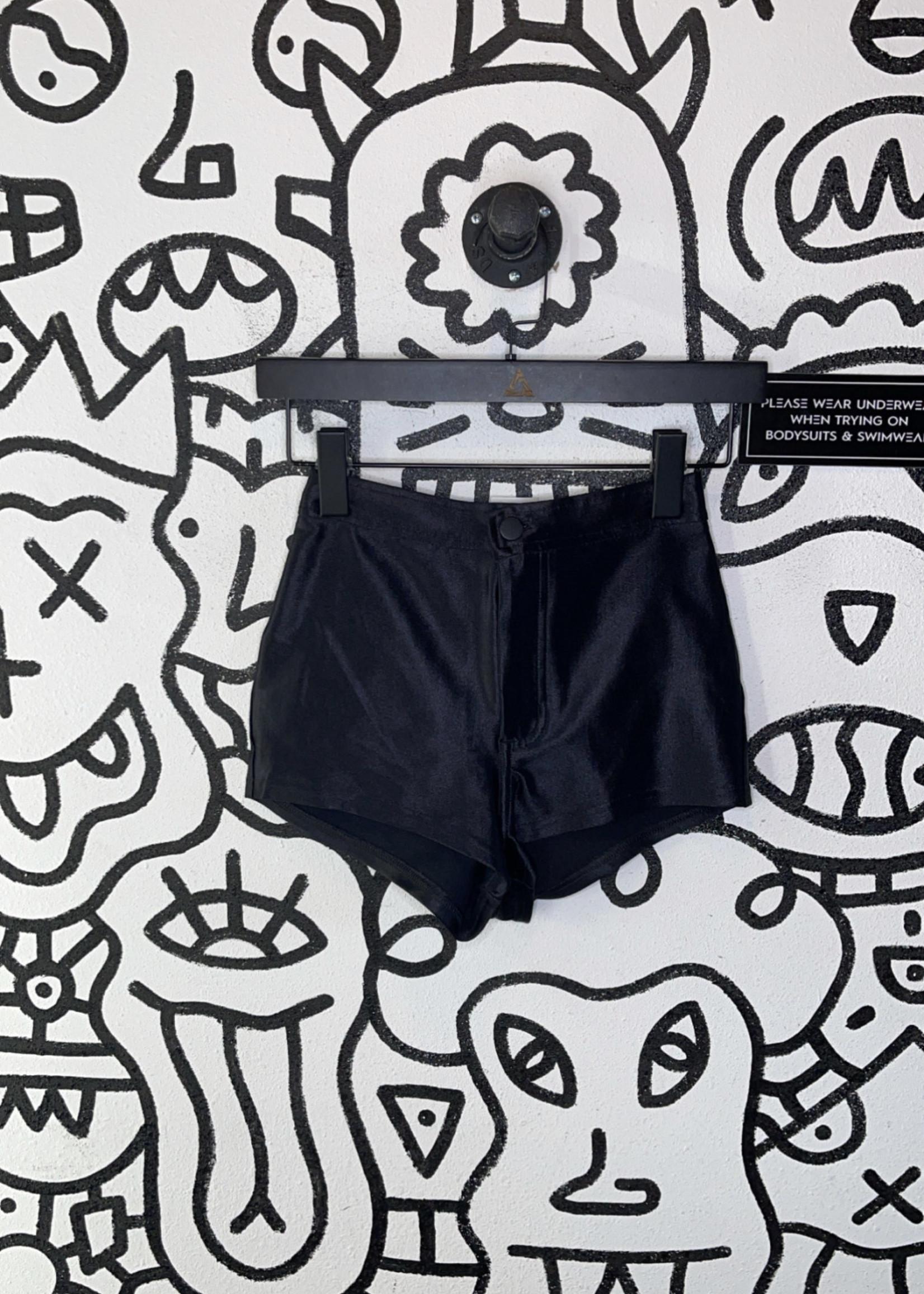 NWT American Apparel black disco shorts XS