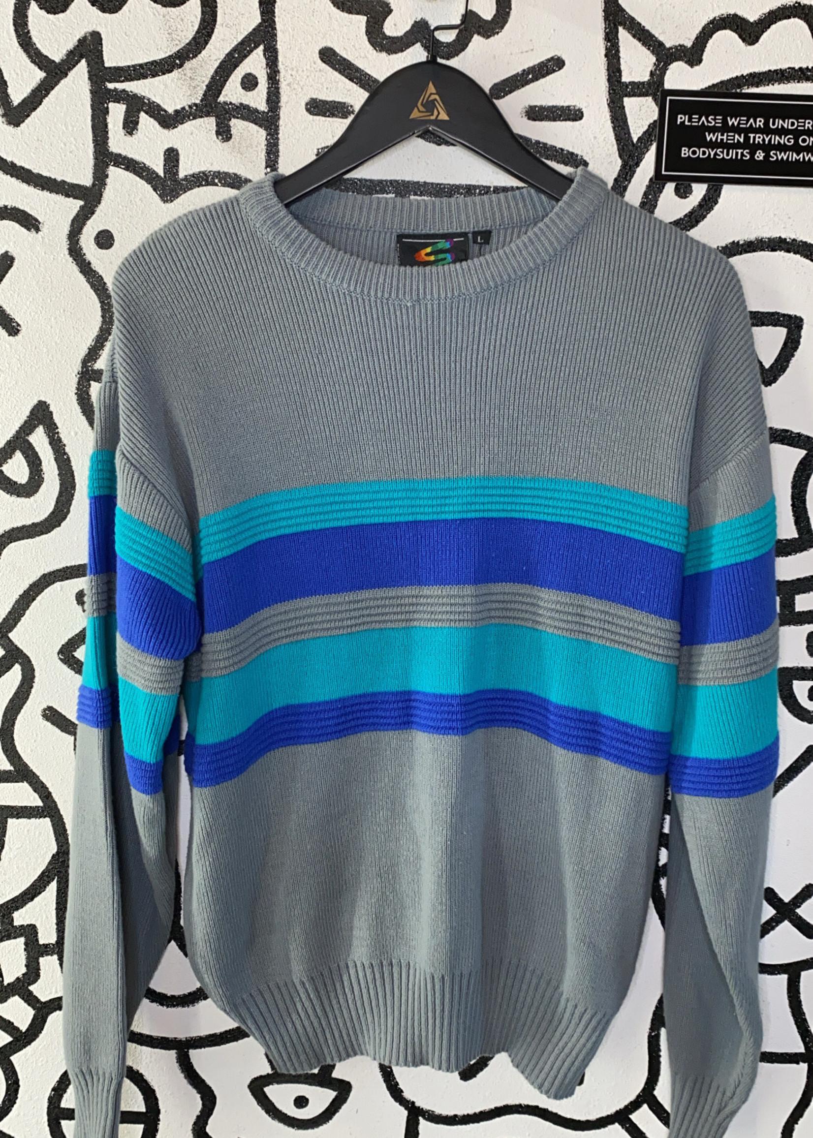 Spettro Vintage Grey Blue Sweater L