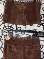 BDG brown corduroy tie front shorts L