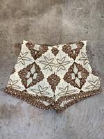Free People Tan/Brown Pattern Shorts 2/XS