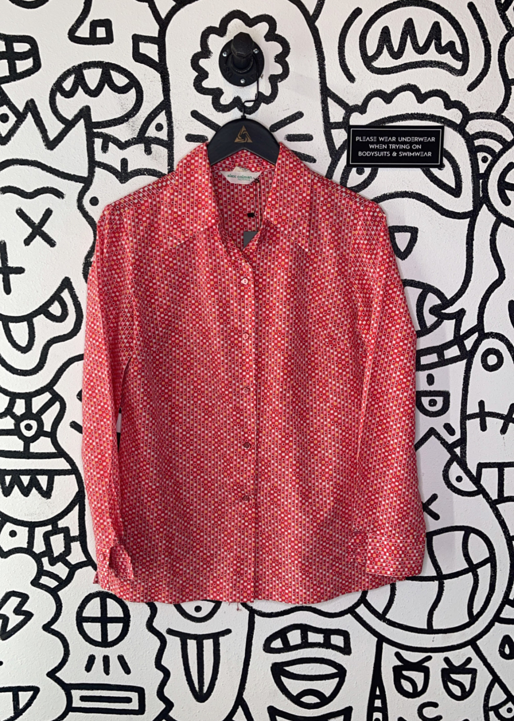 Alex Coleman Red Patterned Button Up M
