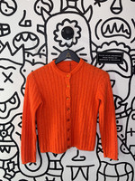 Vintage Orange Knit Cardigan S