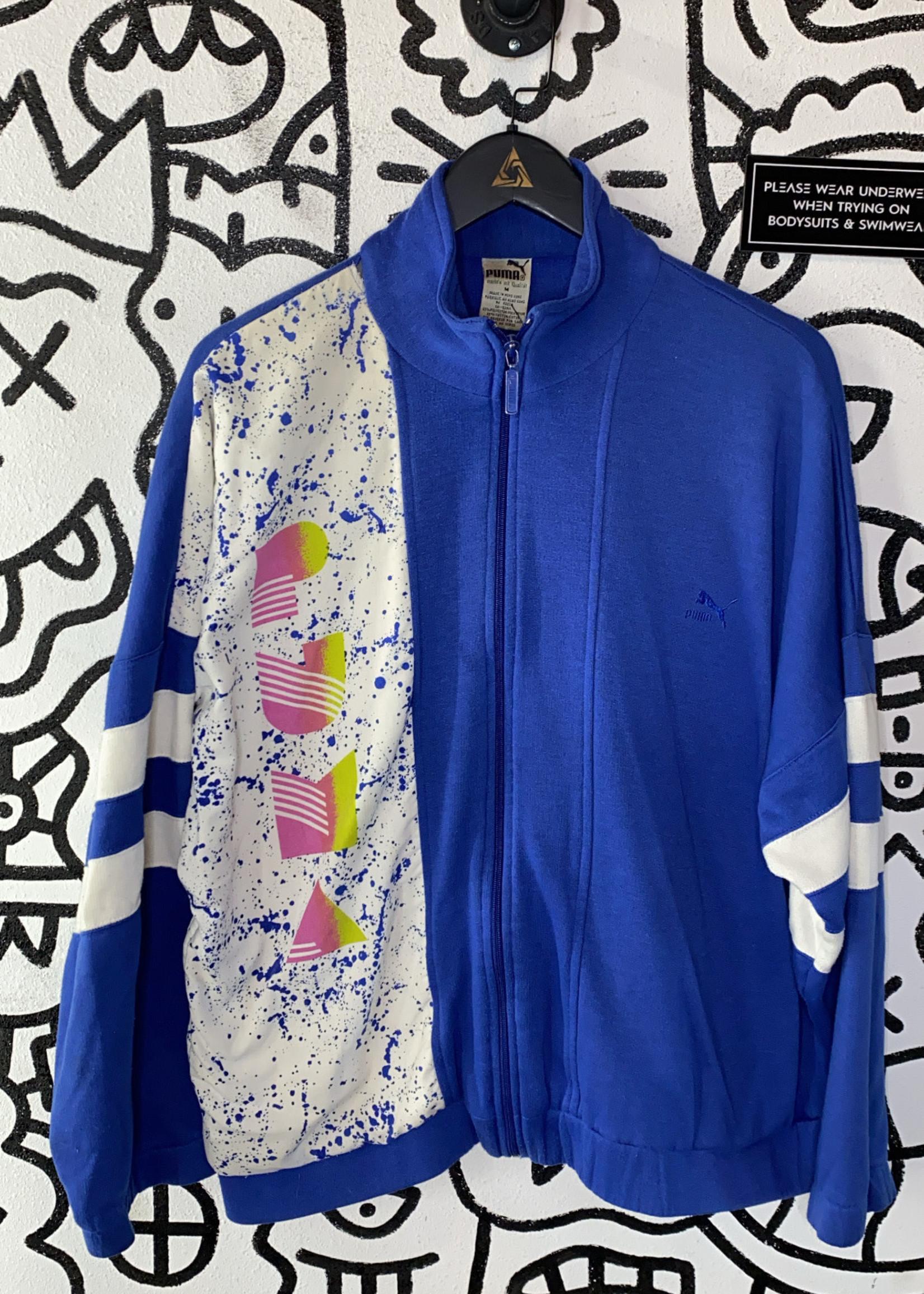 Puma Blue 80's Pattern Jacket M