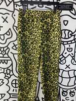 "Vintage Selene Sport Green Cheetah Print Stretch Pant 30"""