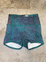 Lululemon Teal Speckled Spandex Shorts 2/XS