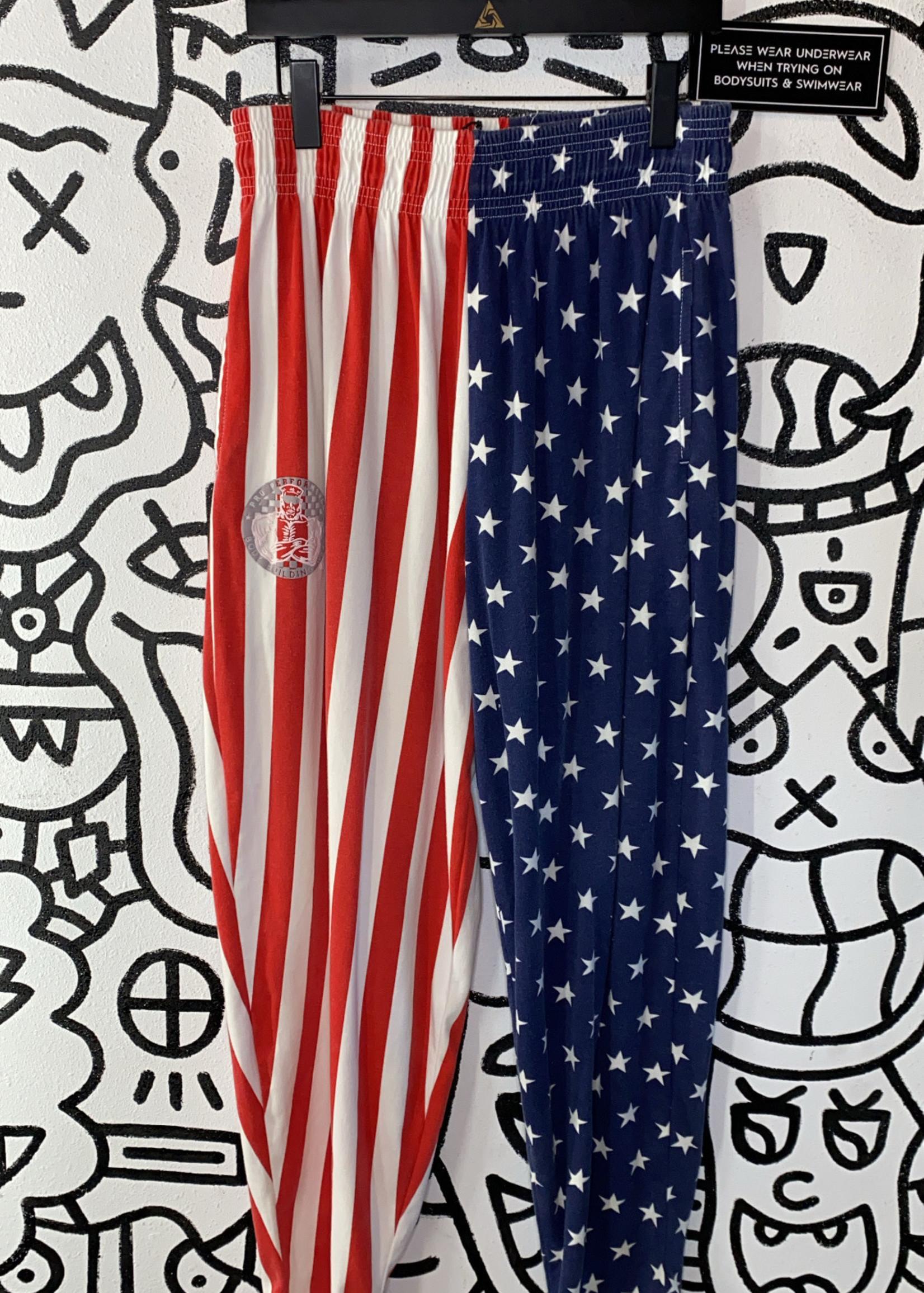 Vintage Pro Performance American Flag Stretch Pants M