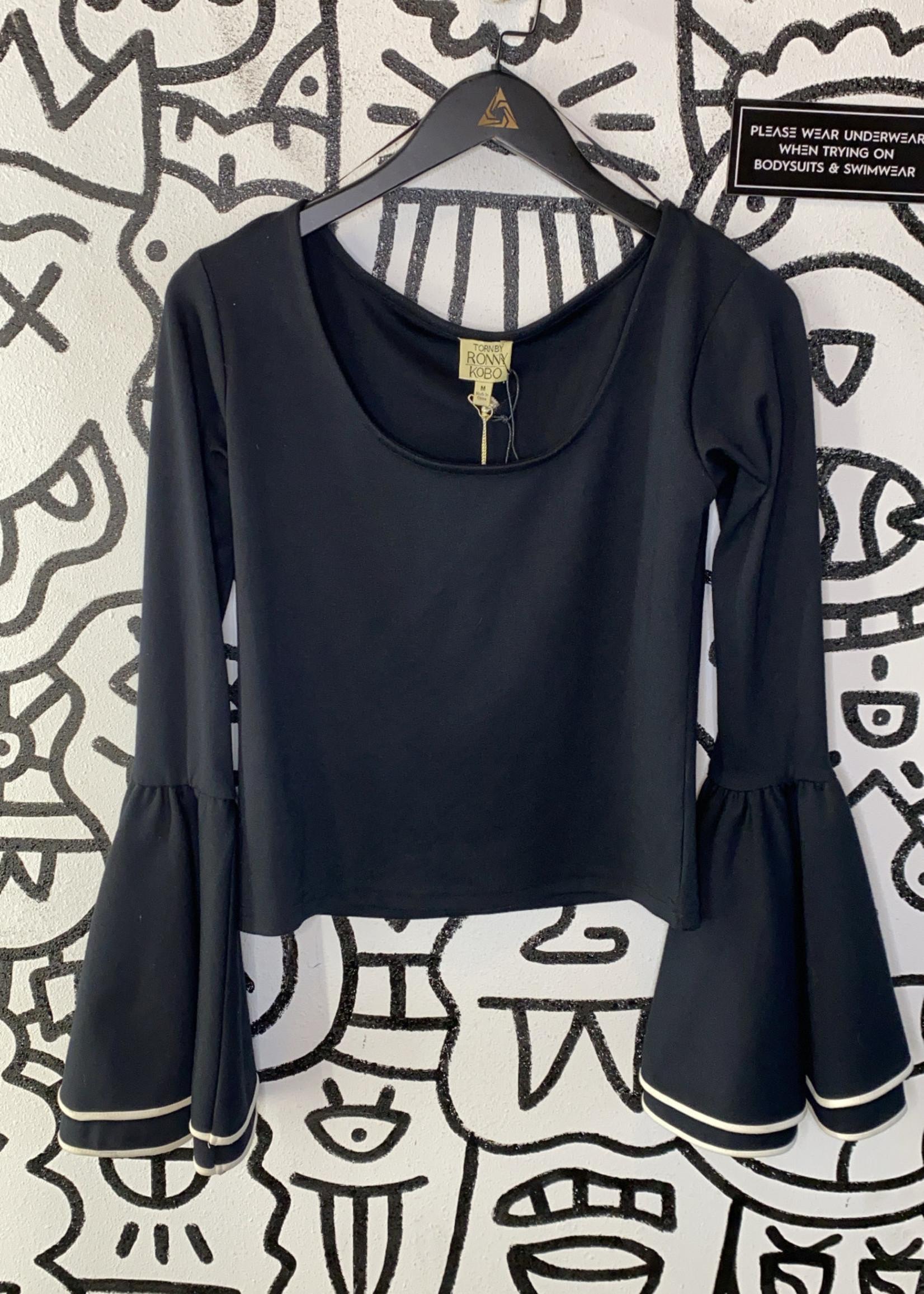 NWT Ronny Kobo Designer Bell Sleeve Top M(Retail: $200+)