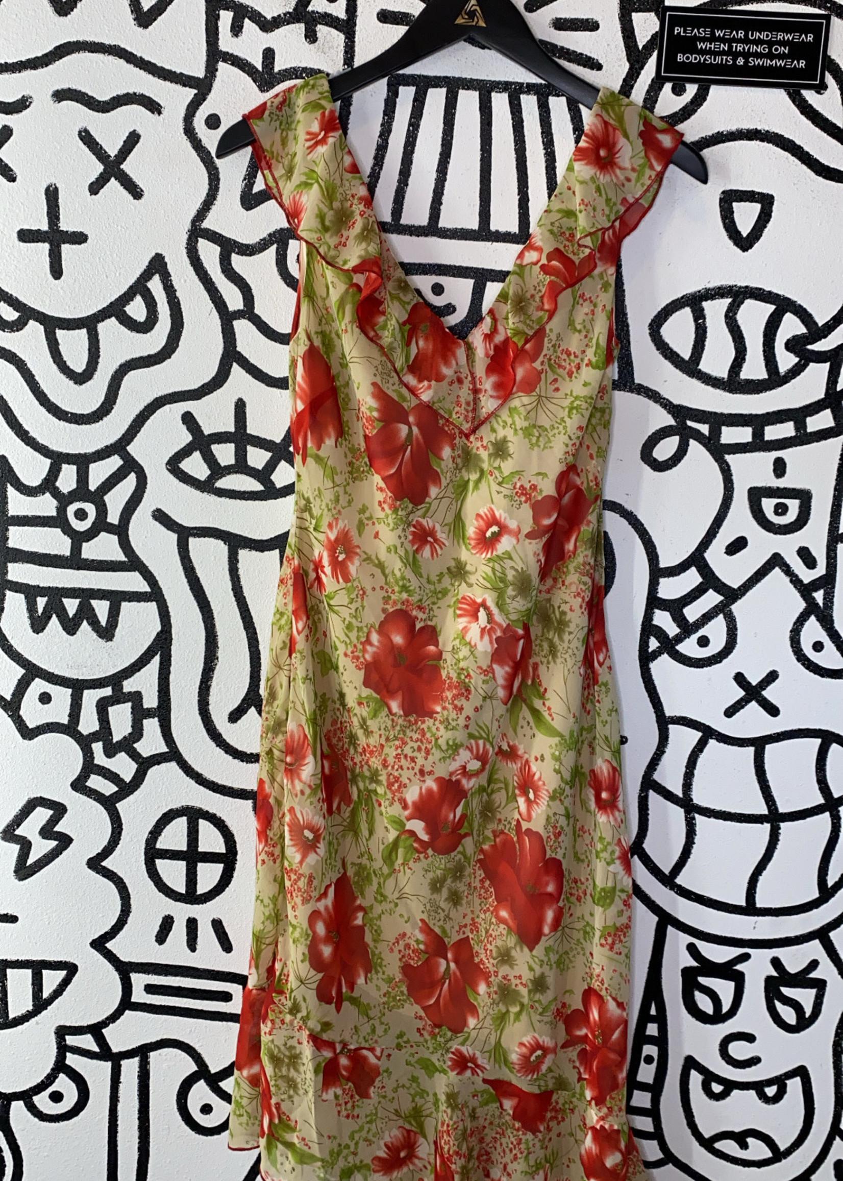 Hotkiss Floral Patterned Dress L