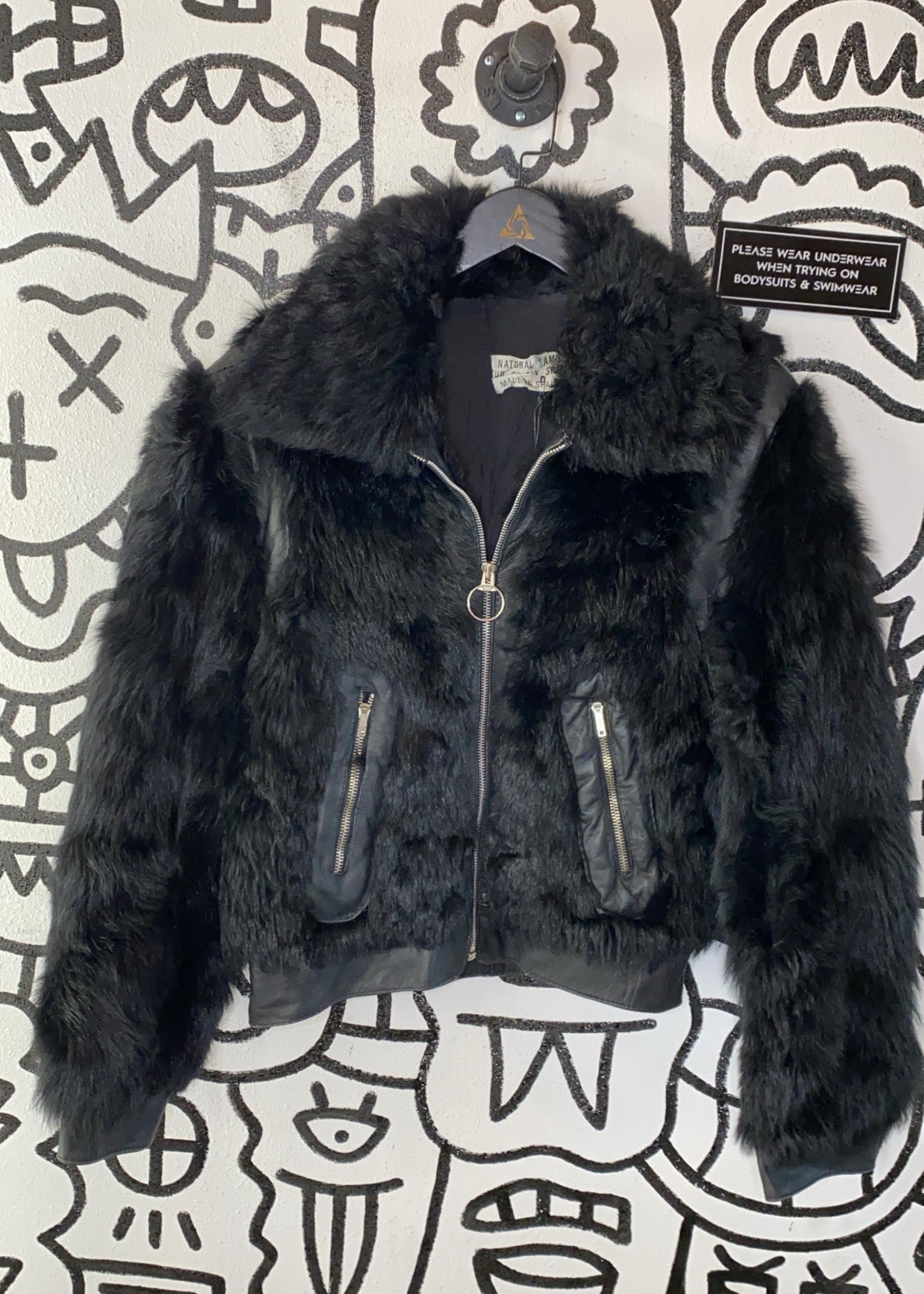 Goya de Espana Vintage Black Lamb Leather Jacket S