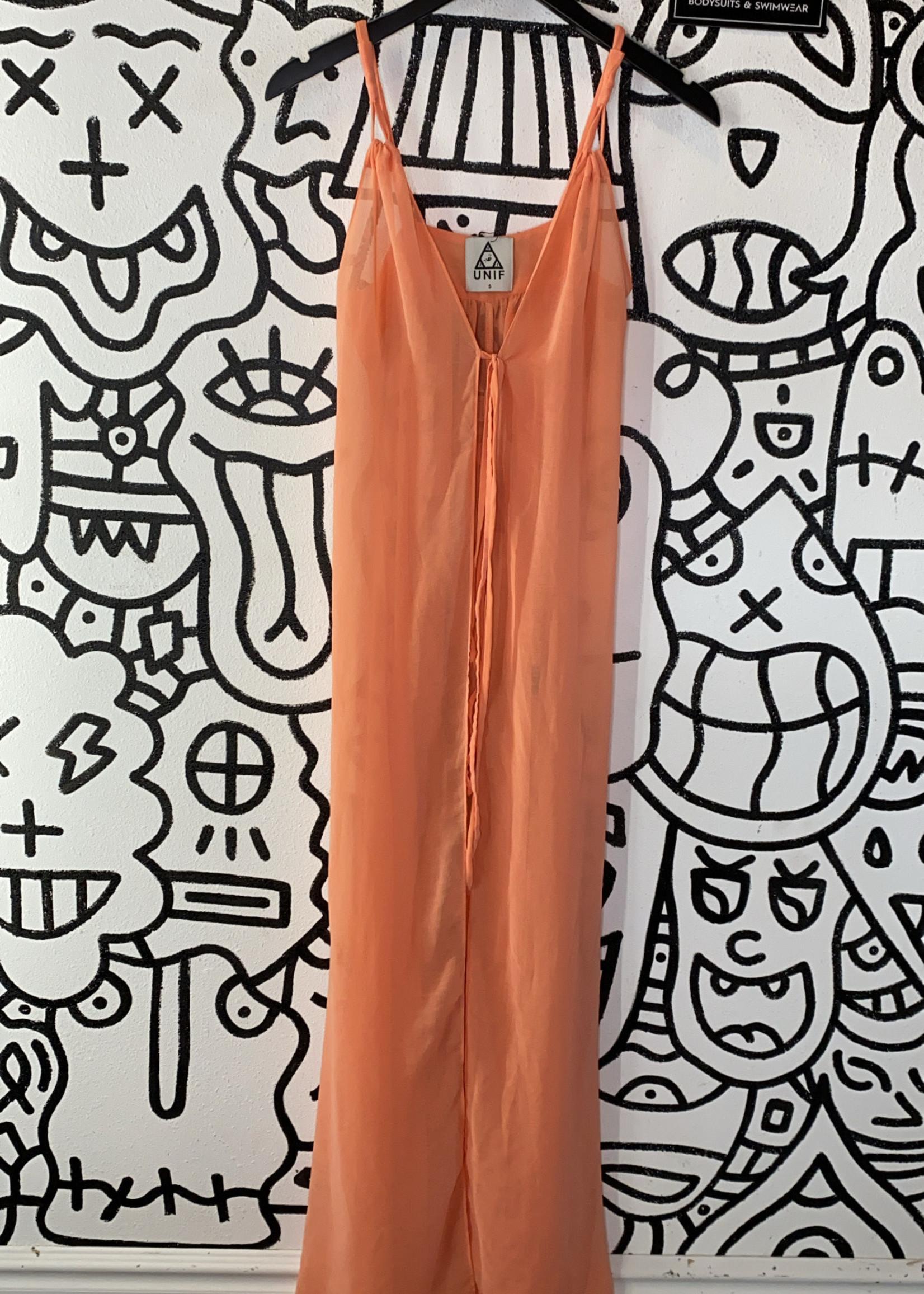 UNIF orange cover up dress S