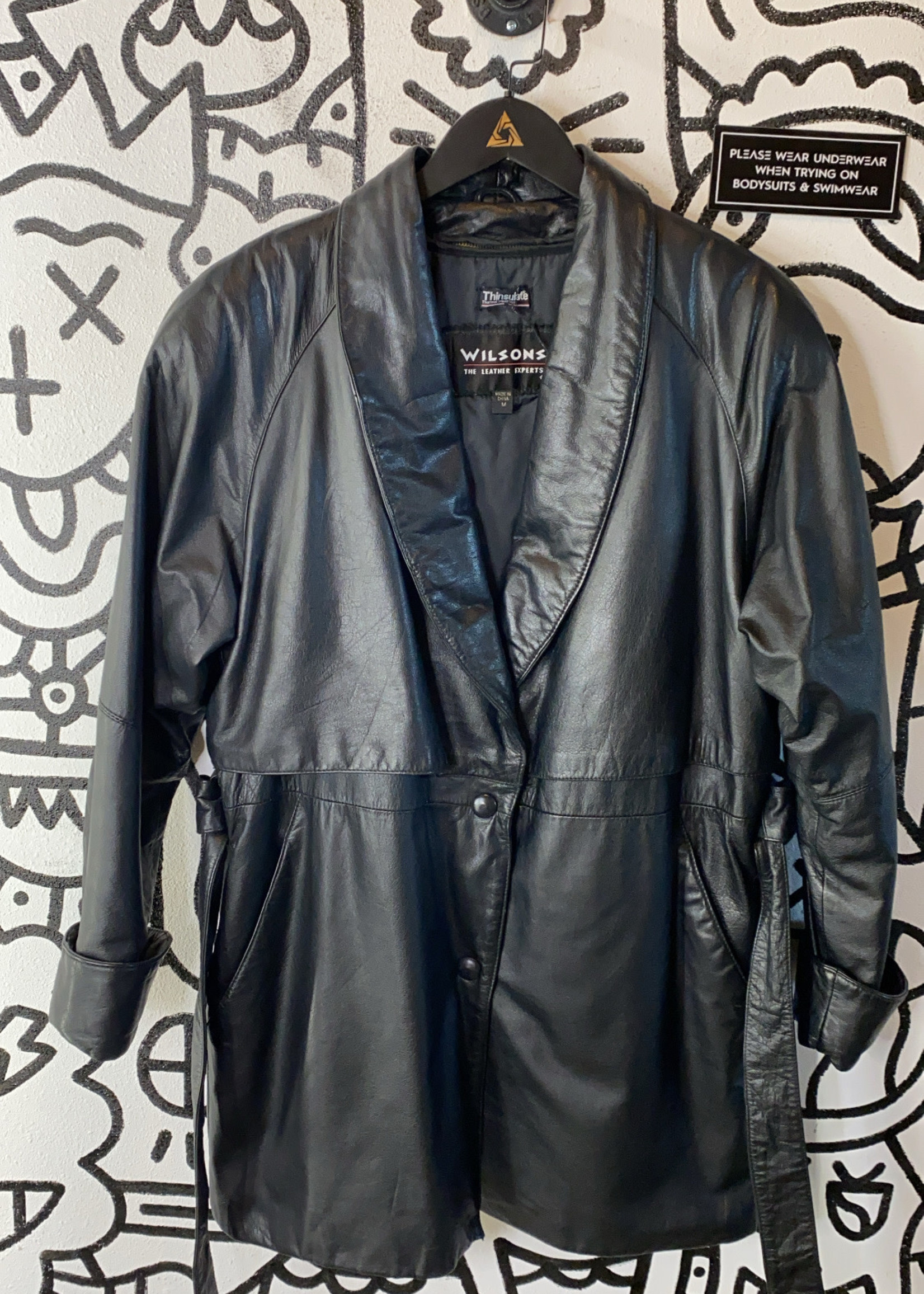 Wilsons leather jackets pattern on sleeve M