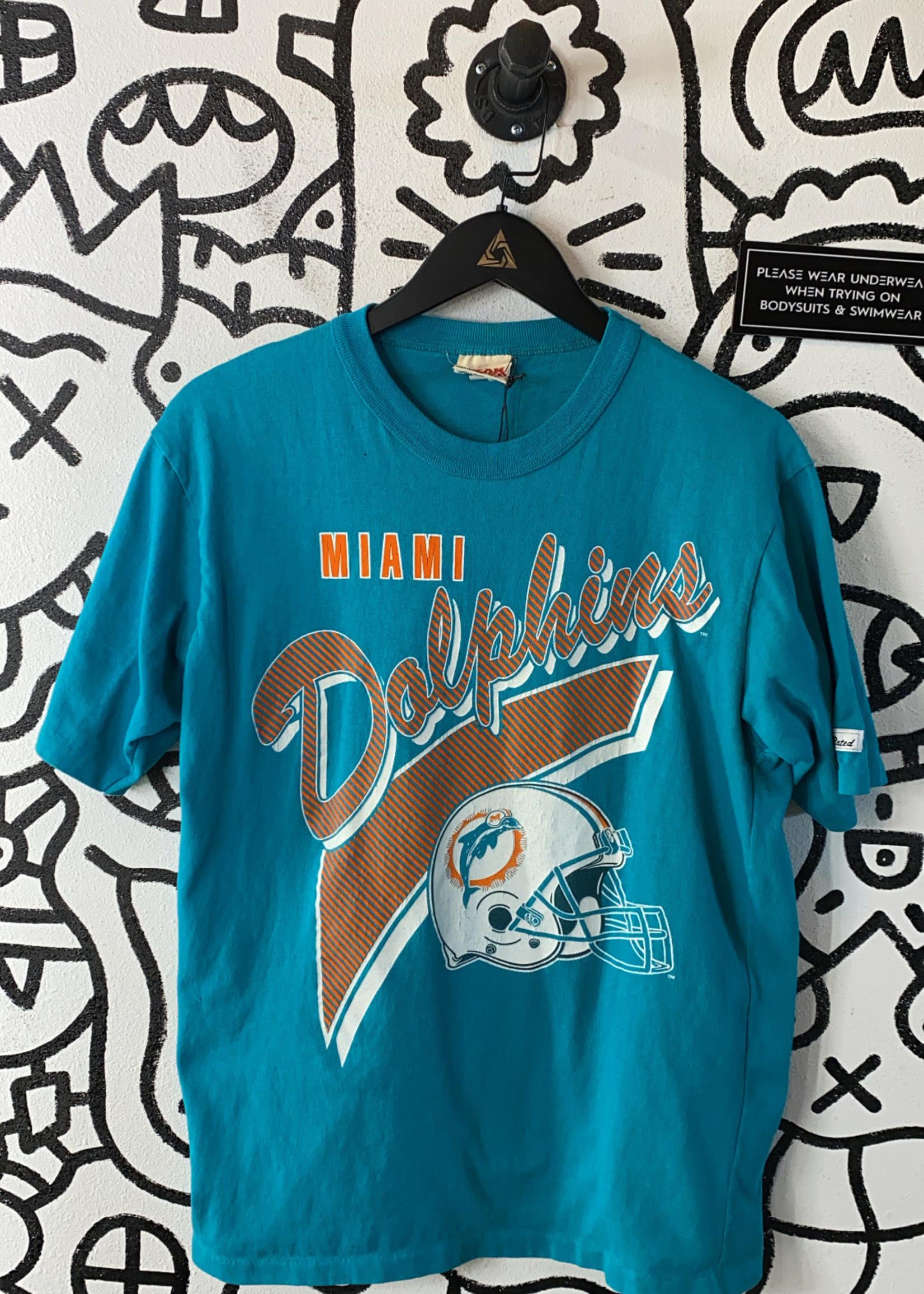 Vintage Miami Dolphins Teal Tee M