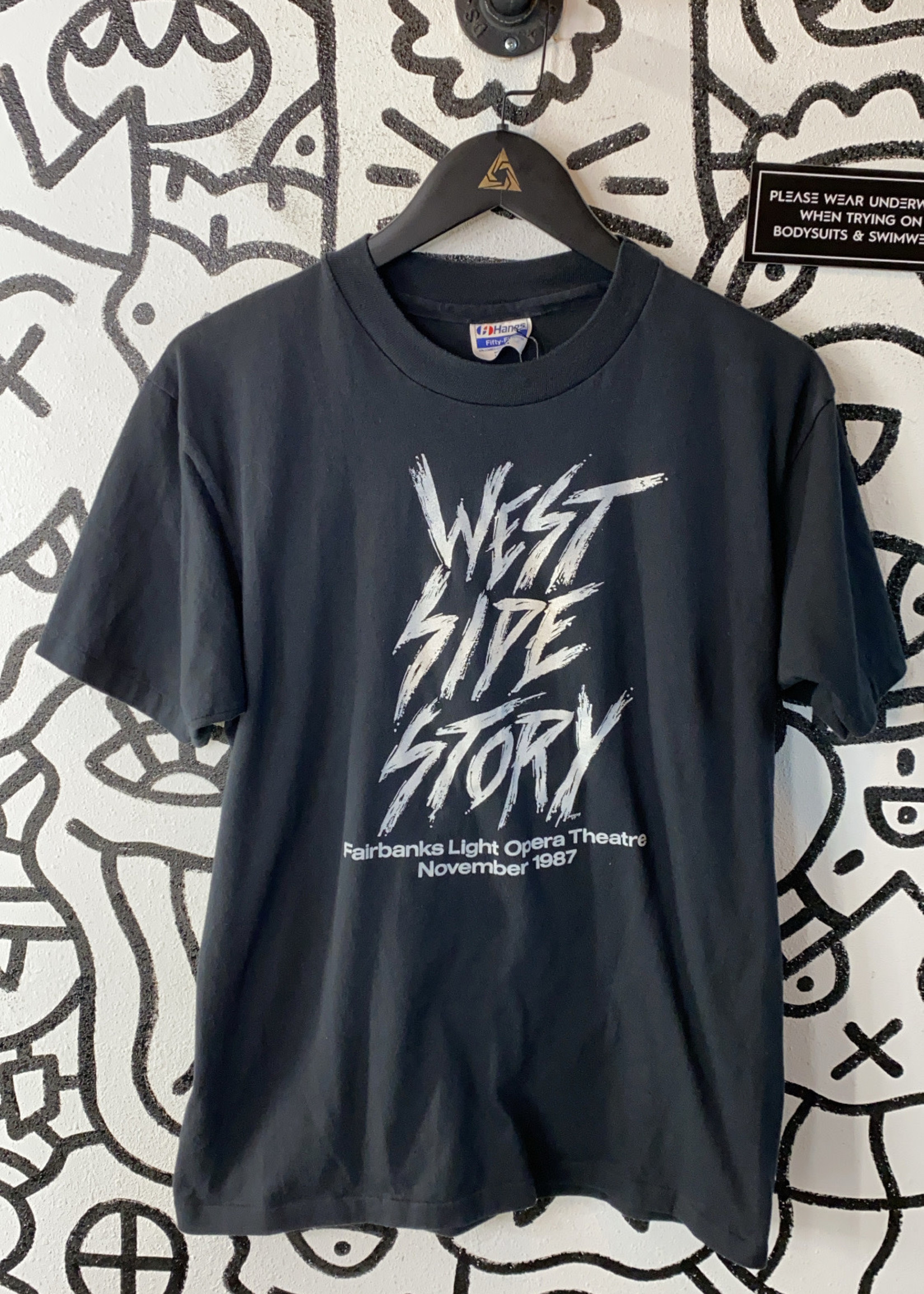 Vintage West Side Story Black Tee M