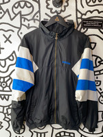 Vintage '90s Adidas Black Blue White Windbreaker M