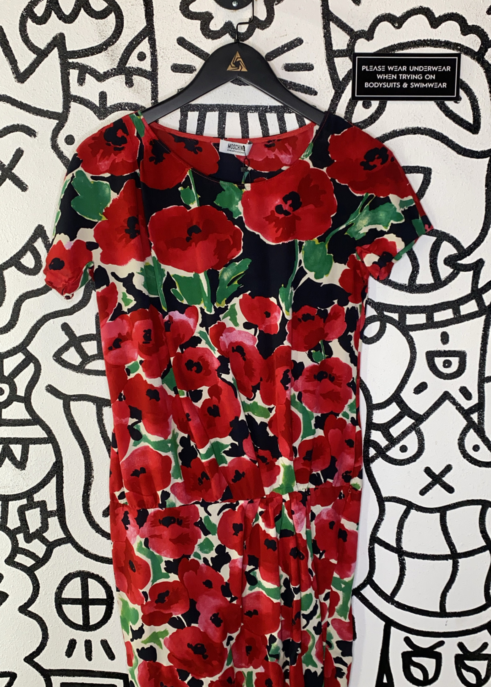 Moschino Cheap & Chic Red Drop Hem Dress M