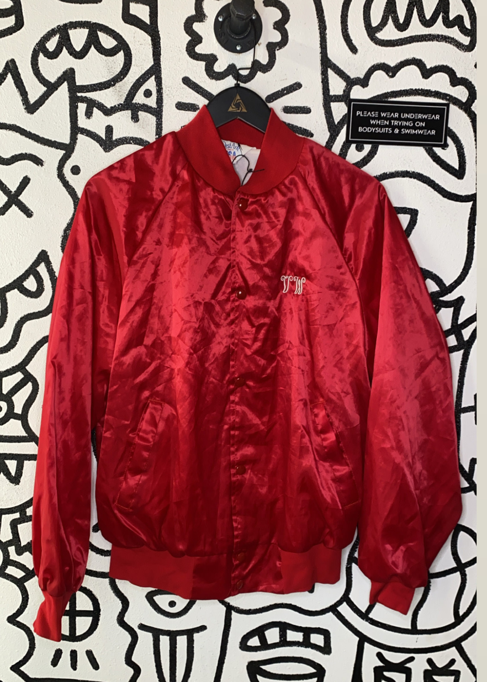 Vintage VW West Red Button Jacket S