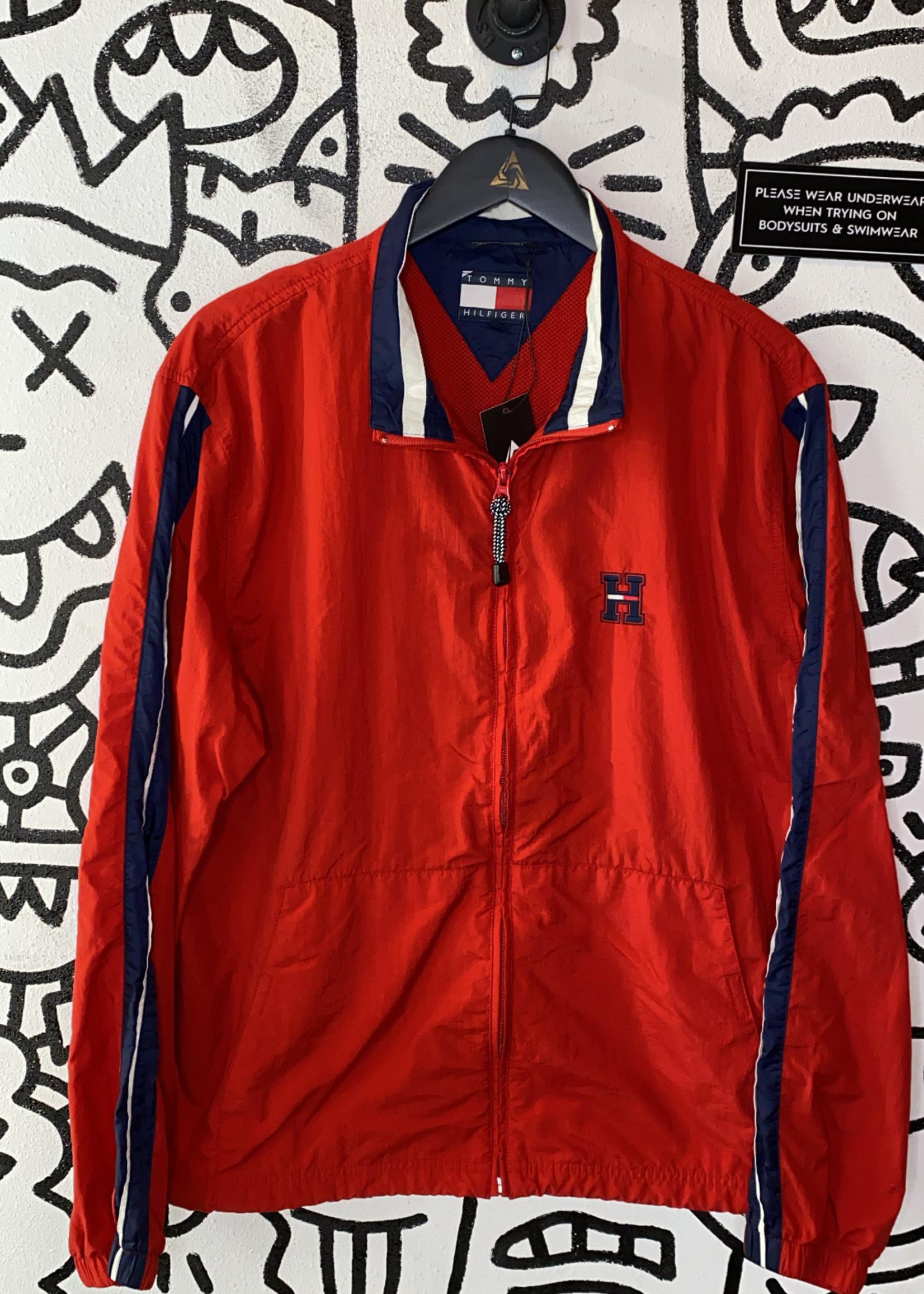 Vintage Tommy Hilfiger Red Zip Jacket L