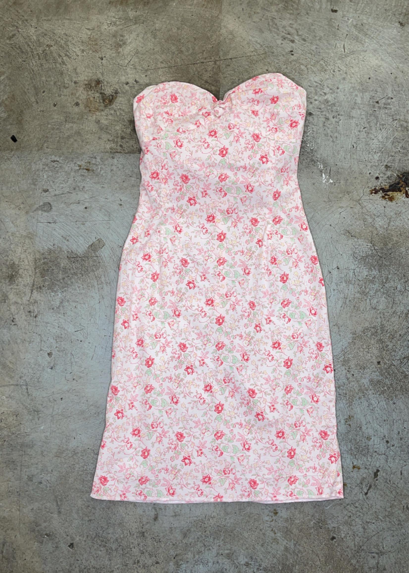 Vintage Ralph Lauren Strapless Pink Dress XS