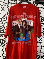 Barack Obama Red 'First Family' Tee 4XL