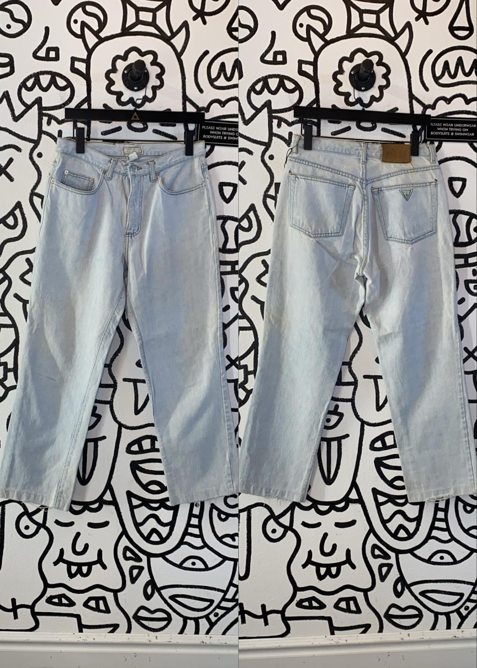 "Vintage Guess Light Wash Mom FIt Jeans 30"""