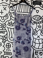 Vintage DBY Blue Floral Print Dress 12/M