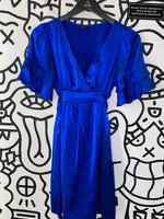 Betsey Johnson Blue Silky Dress 2/XS