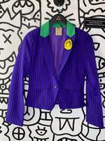 DC Comics Joker Purple Striped Blazer S