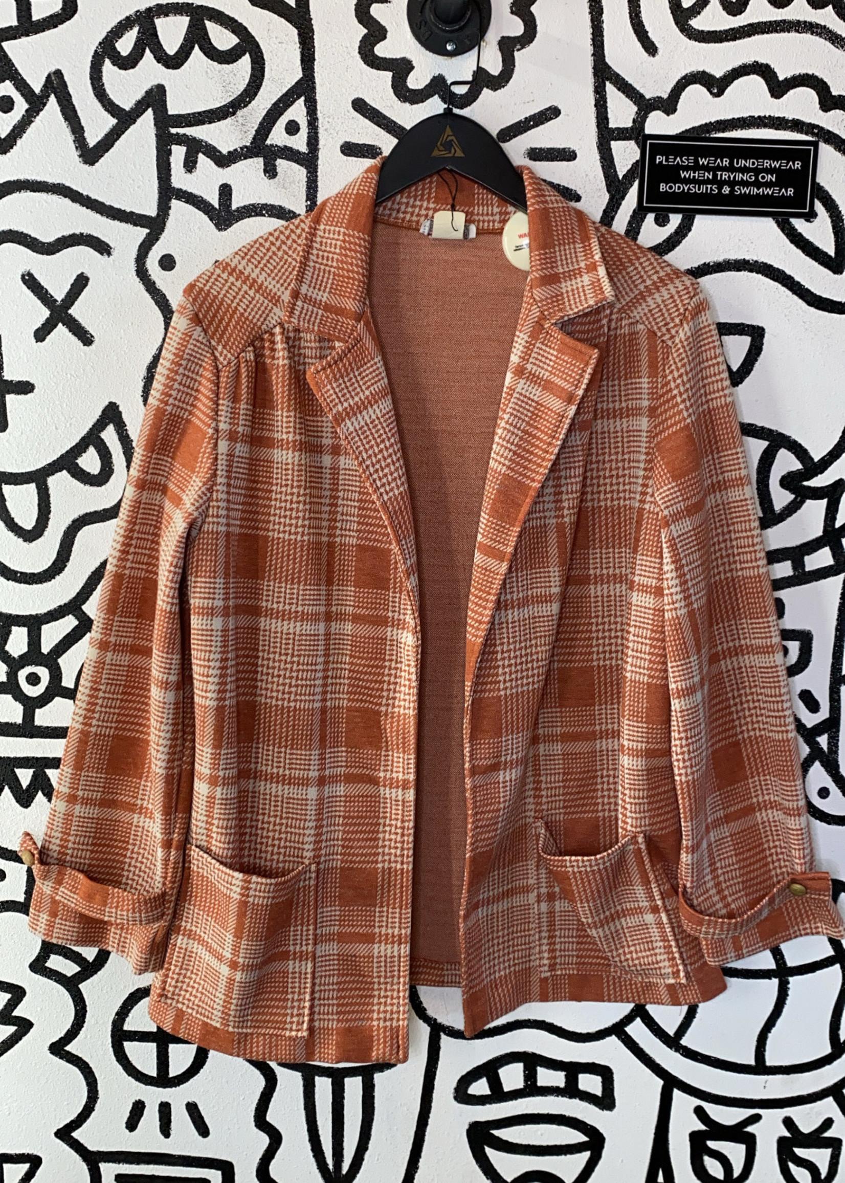 Vintage aldens fashion orange jacket L