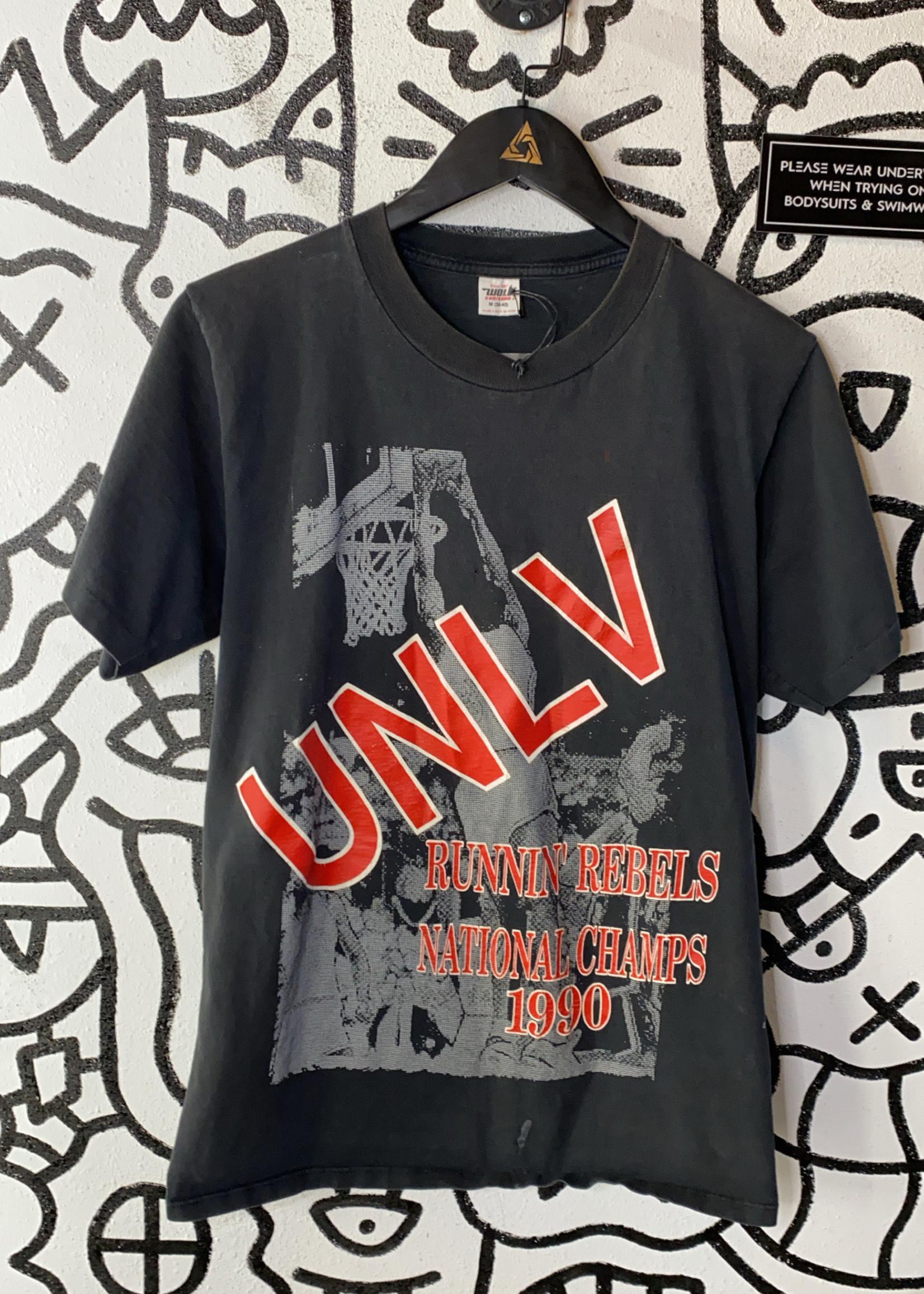 Vintage black UNLV basketball tee M