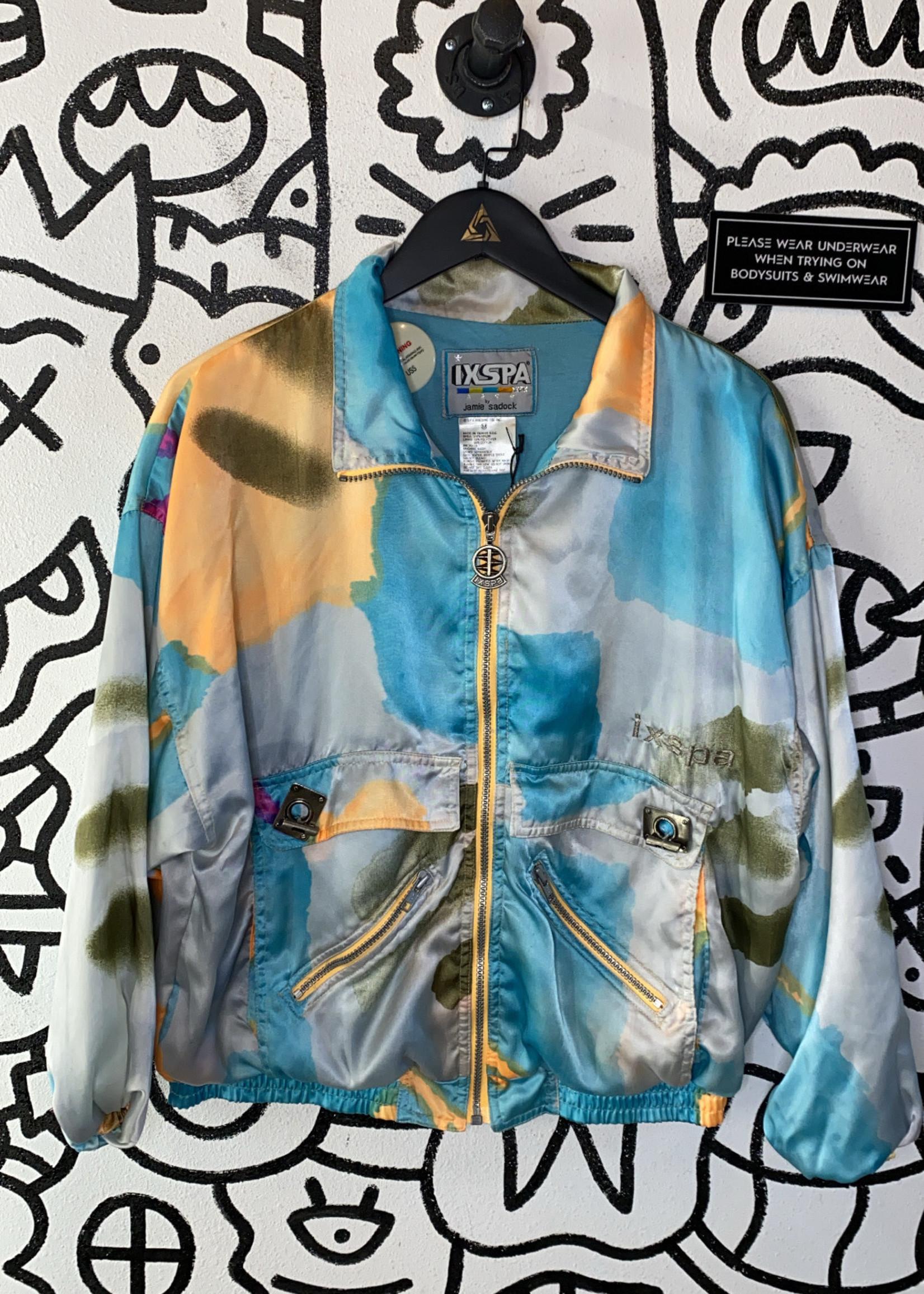 Vintage IXSPA Silk Bomber Jacket M