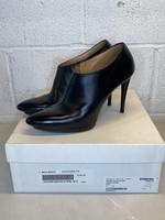 Balenciaga Black Leather Bootie Heels 38 (Retail: $795)
