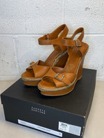 Barneys New York Brown Leather Wedges 8 (Retail: $275)